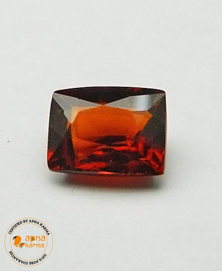 3.79 Carat Natural Hessonite Garnet (Gomed) - Apna Karma