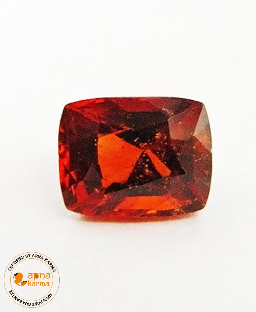 4.63 Carat Natural Hessonite Garnet (Gomed) - Apna Karma